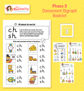 Phase 3 Consonant Digraphs Consolidation Booklet