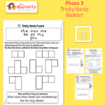 Phonics Phase 3 Booklet Tricky Words